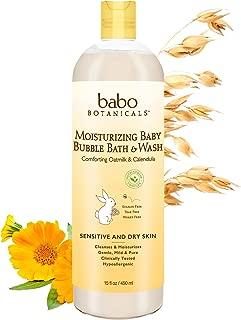product image for Babo Botanicals Moisturizing Baby 2-in-1 Bubble Bath & Wash with Natural Oatmilk and Organic Calendula, Oatmilk & Calendula 15 Fl Oz Oatmilk Calendula