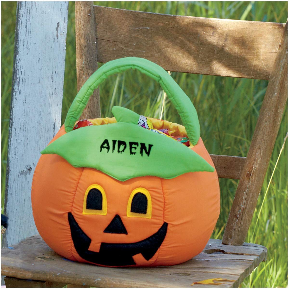 Astonishing Lillian Vernon Pumpkin Personalized Halloween Treat Bag Caraccident5 Cool Chair Designs And Ideas Caraccident5Info