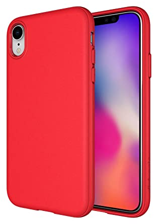 iphone xr red matte case