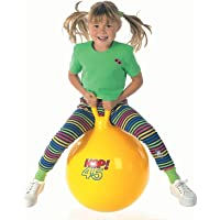 LUMONY Kid's Hop Ball Including Foot Pump (Random Handle Design Color)