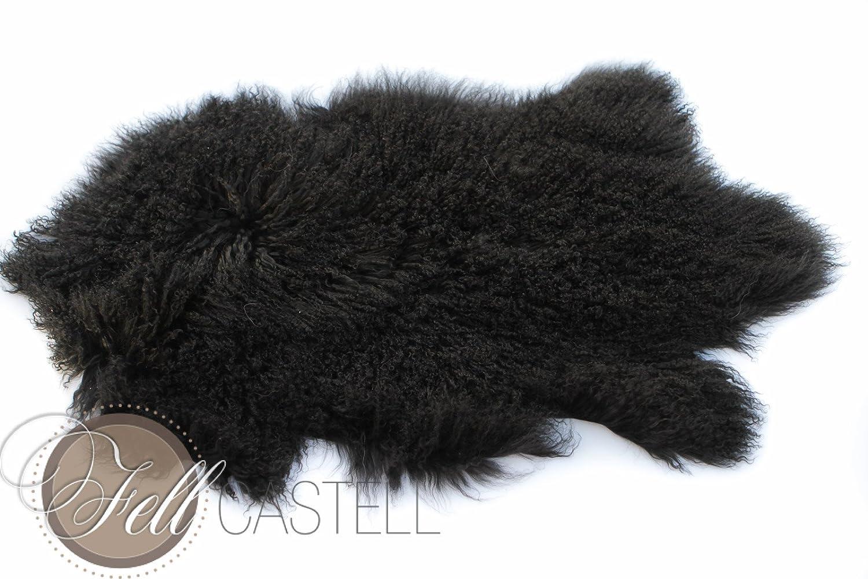 Tibetlammfell schwarz ca. 95 x 55 cm