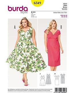 Schnittmuster burda Nr 6520 Kleid 34-46 Hemdblusenstil Faltenrock  Gr