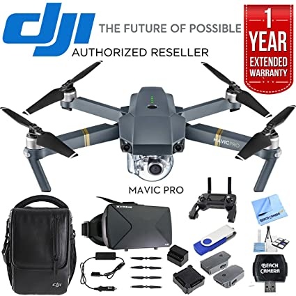 95145491137 DJI Mavic Pro 4K Camera Quadcopter Drone Fly More Combo Pack + Ultimate  Bundle with 16gb