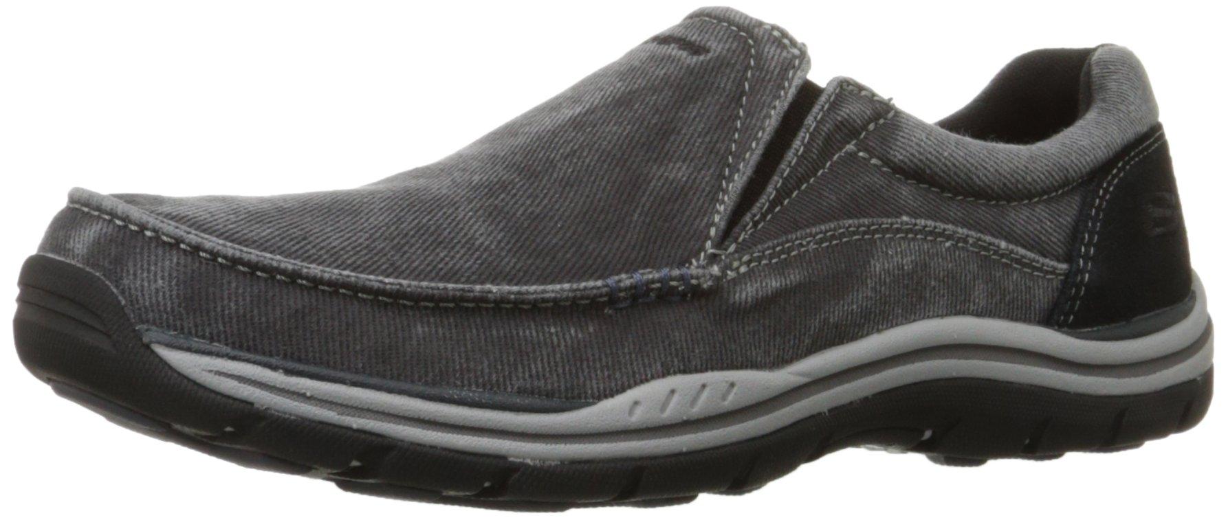 Skechers USA Men's Expected Avillo Relaxed-Fit Slip-On Loafer,Black,9.5 M US by Skechers