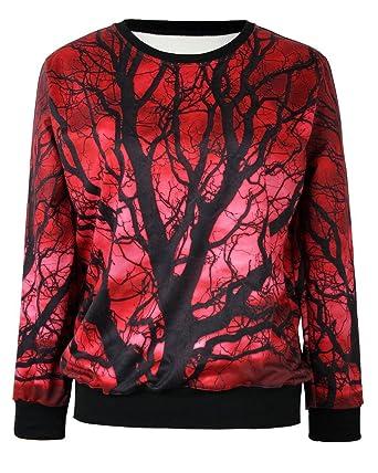 Pandolah Neon Galaxy Cosmic Colorful Patterns Print Sweatshirt Sweaters  (Free size, 40824,9
