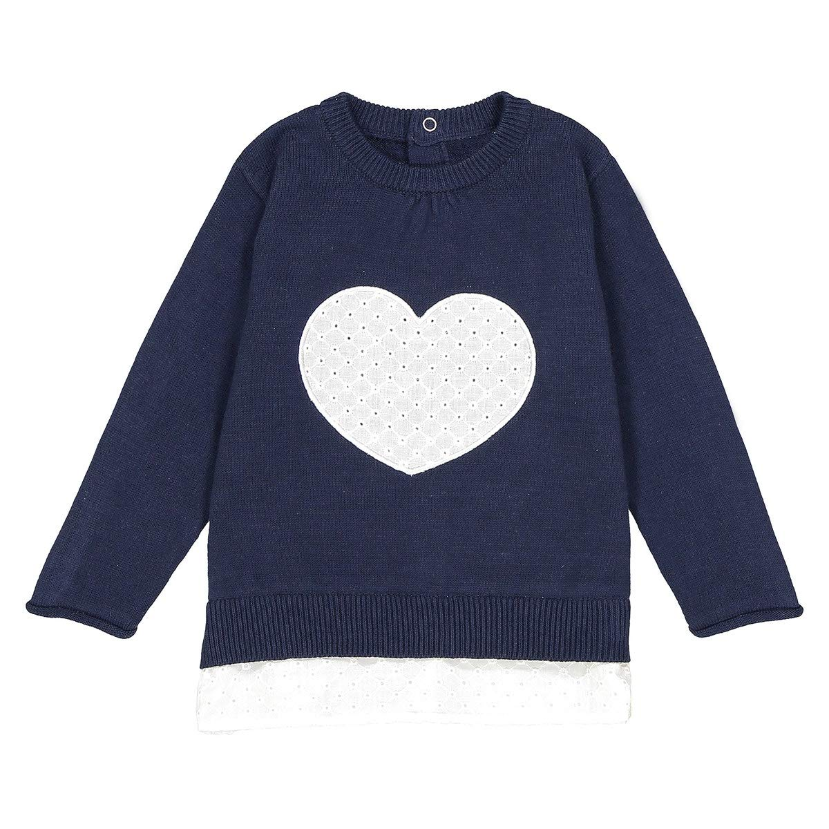 1 Month-3 Years La Redoute Uniross Jumper//Sweater with Embroidered Heart