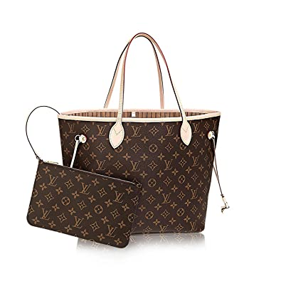 f3b619e2425b Louis Vuitton Monogram Canvas Neverfull MM M40995 Beige  Handbags   Amazon.com