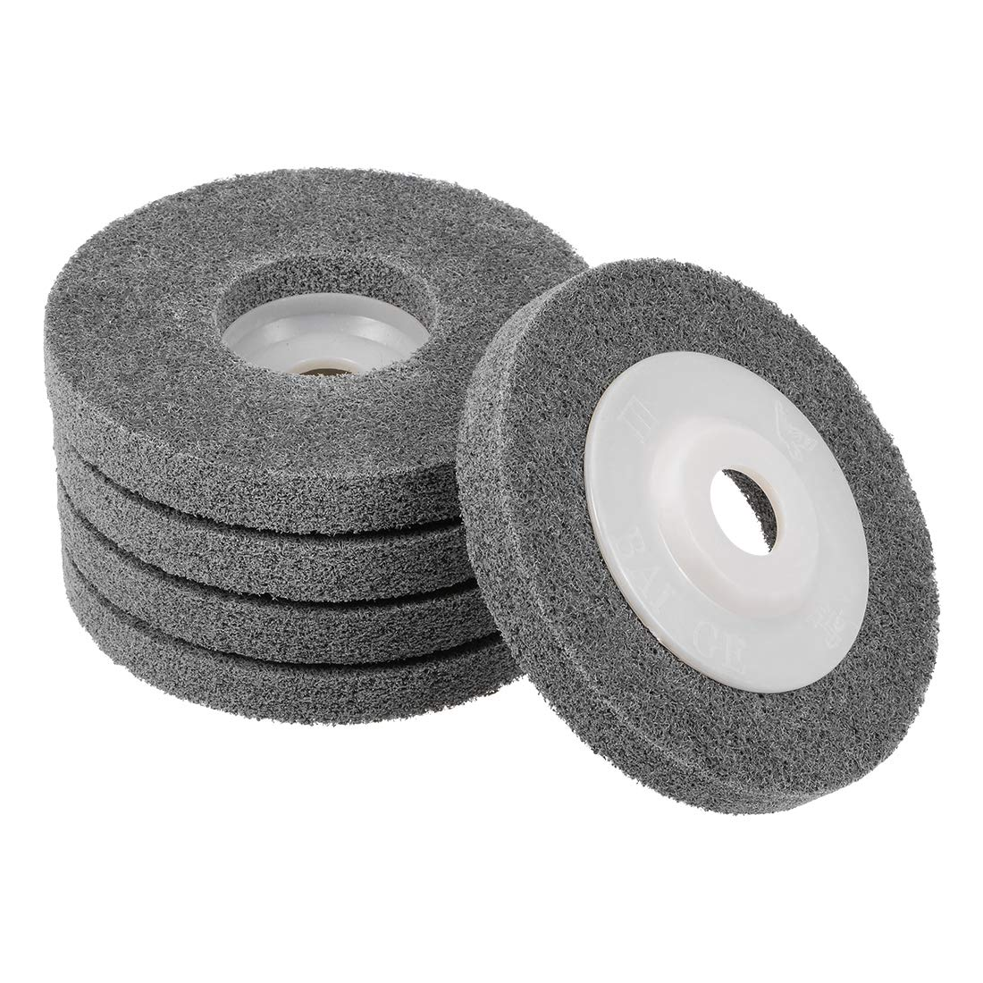 uxcell 4 Inch Nylon Fiber Polishing Wheel Sanding Buffing Disc Abrasive Wheels for Angle Grinders 5 Pcs