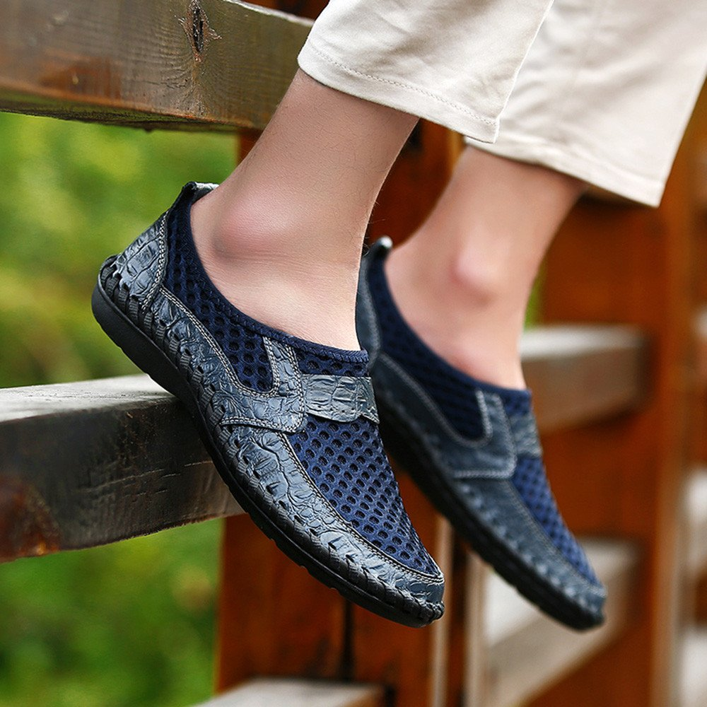 Respctful ◉Mens Fashion Breathable Walking Loafers Casual Shoes Lightweight Driving Shoes