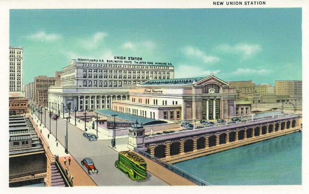 シカゴ、イリノイ州 – 新しい連合の外部ビューTrain Station 16 x 24 Giclee Print LANT-26897-16x24 B00QPYXIJ0  16 x 24 Giclee Print