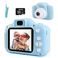 """NIERBO Cámara para niños 8.0MP 1080P HD Mini cámara de video digital para niños Regalos de juguete de cumpleaños recargables con tarjeta de memoria de 32GB, pantalla IPS de 2"""""""