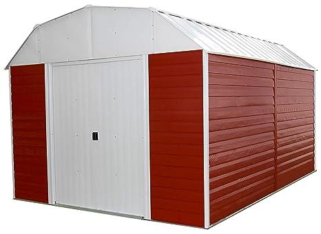 Flecha rh1014 Red Barn – 10 pies por 14-feet acero cobertizo