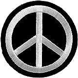 Black Peace Symbol Iron On Patch