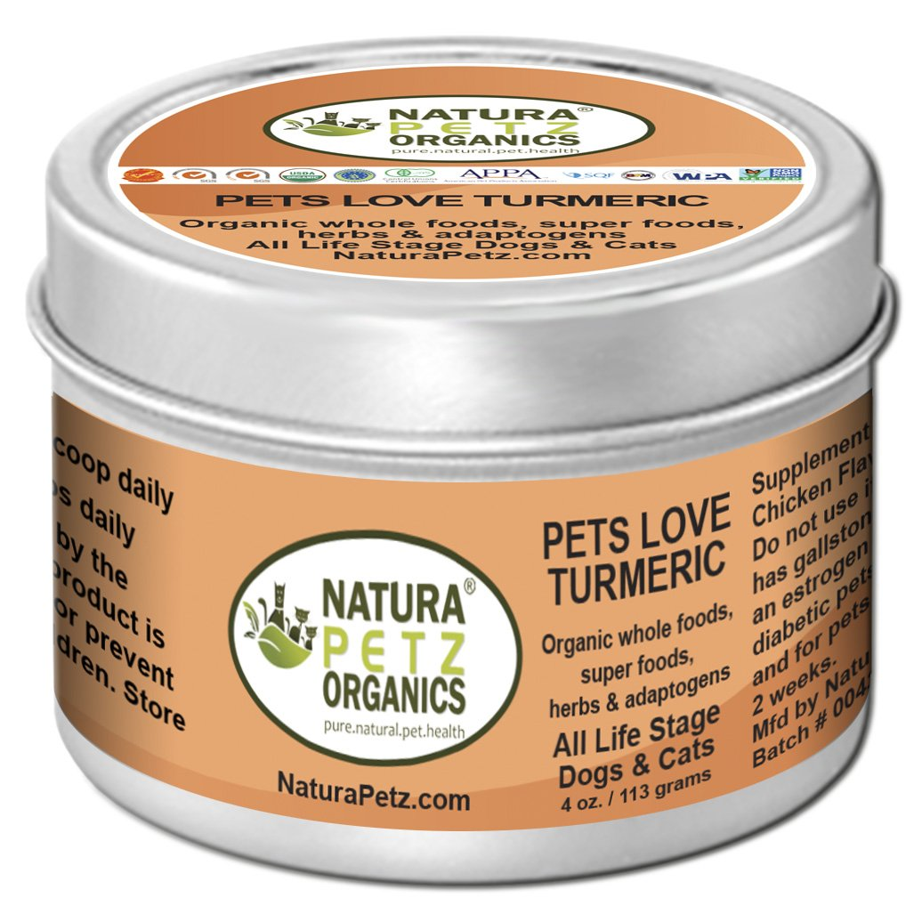 Natura Petz Organics Pets Love Turmeric - Antioxidant, Immune Promoting Nutritional Meal Topper for Dogs and Cats by Natura Petz Organics