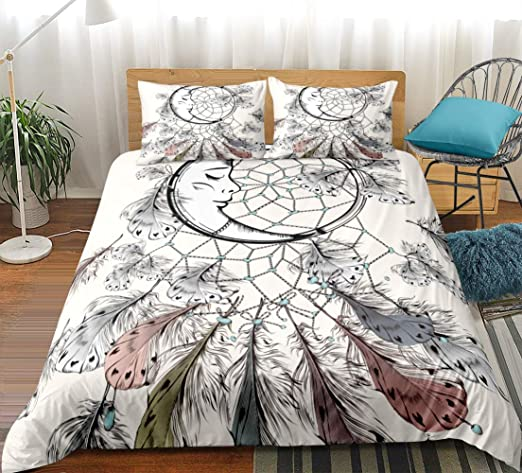 Feather Grey Duvet Cover /& Pillow Case-Bedding Sets-All Sizes
