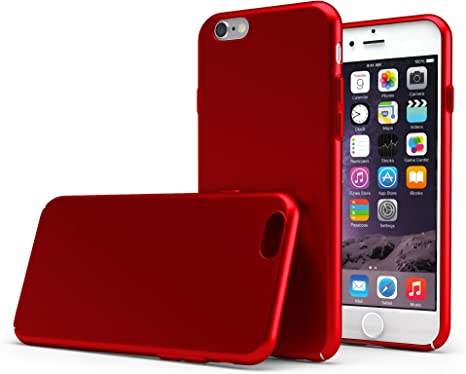 UltraSoft - Custodia rigida sottile rosso opaco per iPhone X
