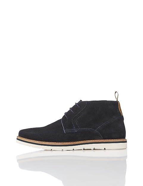 b19b00e6f195f Botines de Ante con Cordones para Hombre  Amazon.es  Zapatos y complementos