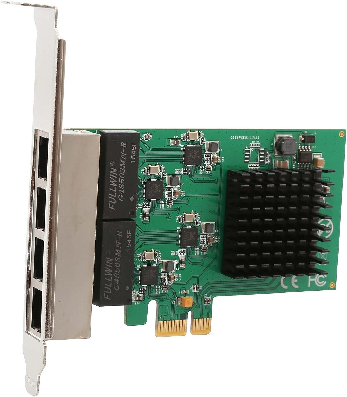 4 Port (Quad) Gigabit Ethernet PCI Express 2.1 PCI-E x1 Network Adapter Card (NIC) 10/100/1000 Mbps Card with Realtek Chipset