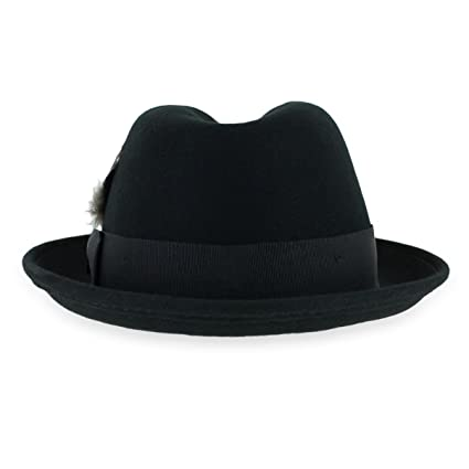 Belfry Trilby Men Women Snap Brim Vintage Style Dress Fedora Hat 100% Pure Wool  Felt In Black 114877768ae4