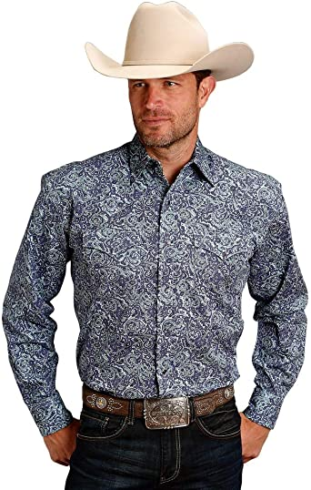 Stetson Mens Tile Foulard Long Sleeve Western Snap Shirt 11-001-0425-0407