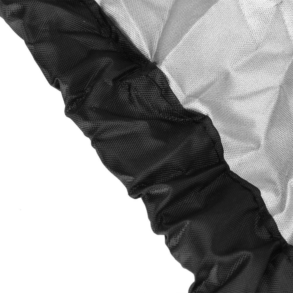 Duokon Rasenm/äher Abdeckplane Abdeckungen Staubschutz-Rasenm/äher Abdeckung wasserdicht Staubdicht Aufbewahrungstasche Garten UV Regen Schnee Protector schwarz Oxford