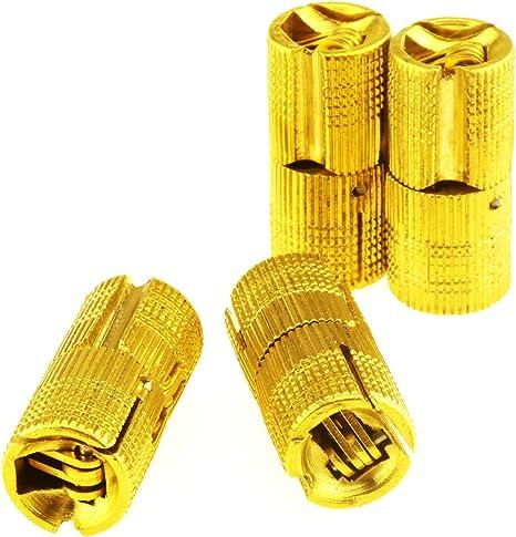 Sumnacon 4 bisagras ocultas de lat/ón 12 mm