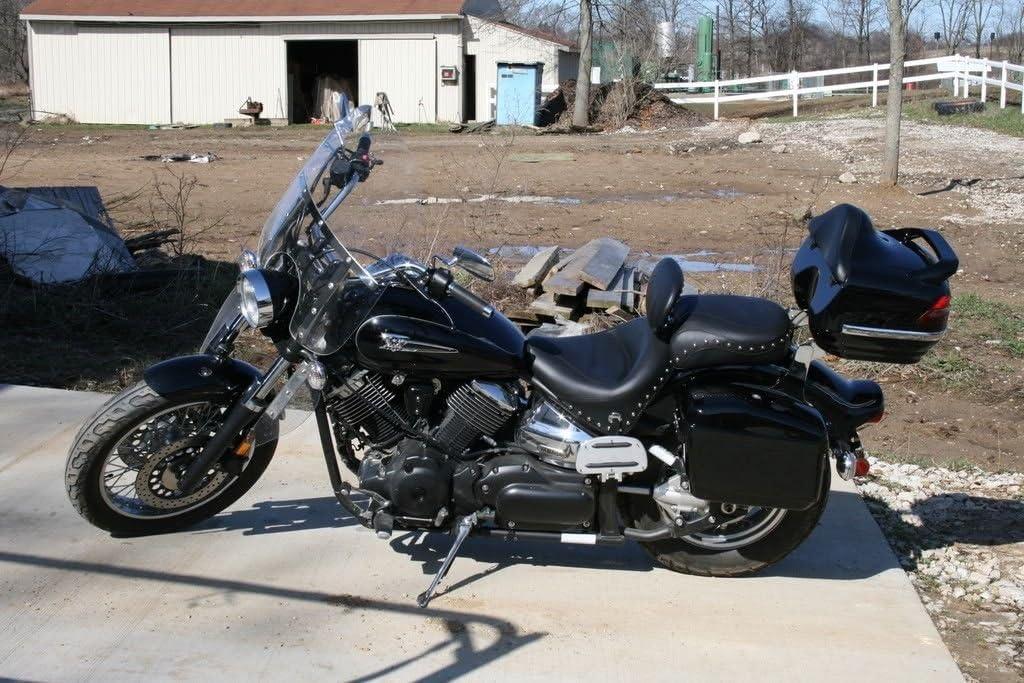 New Hard Saddle bags Saddlebags w//mounting kits Fit Honda Shadow Kawasaki Vulcan VN Black