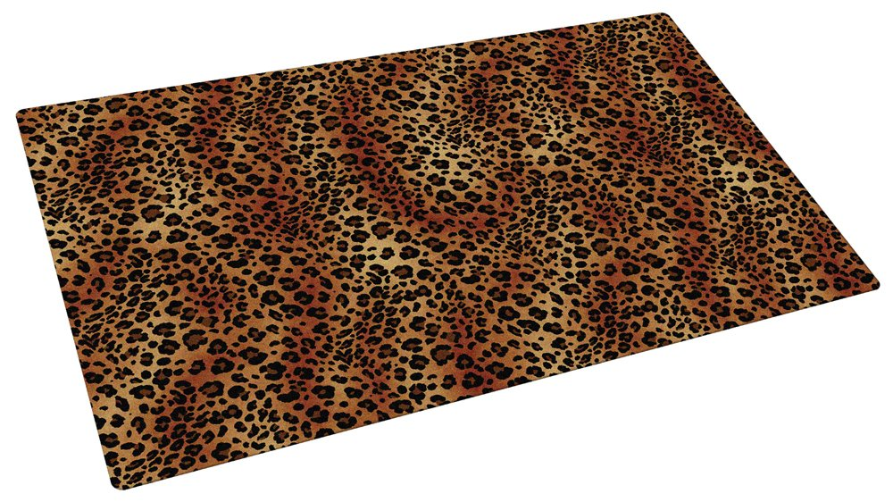 Drymate 12-Inch by 20-Inch Pet Bowl Place Mat with Leopard Imprint Design