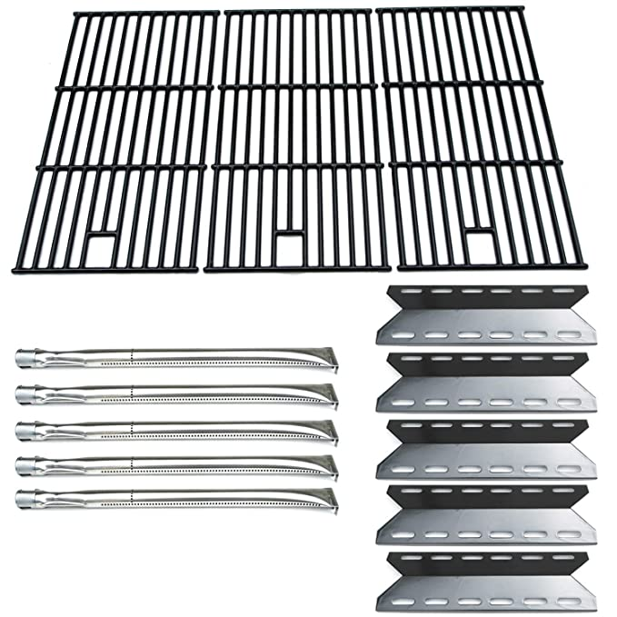 Direct Store Parts Kit DG108 Replacement Nexgrill 720-0025 Gas Grill Burner, Heat Plate, Cooking Grid (Stainless Steel Burner + Porcelain Steel Heat ...