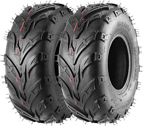 Black Wheel Rims FOUR Tires 145//70-6 Go-Kart ATV Lawn Mini Bike Tires 145x70-6