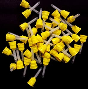 Mydent VP-8105T T-Mix Mixing Tip, Yellow (Pack of 48)