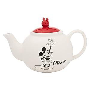 Vandor 89008 Disney Mickey and Minnie Mouse Sculpted Ceramic Teapot