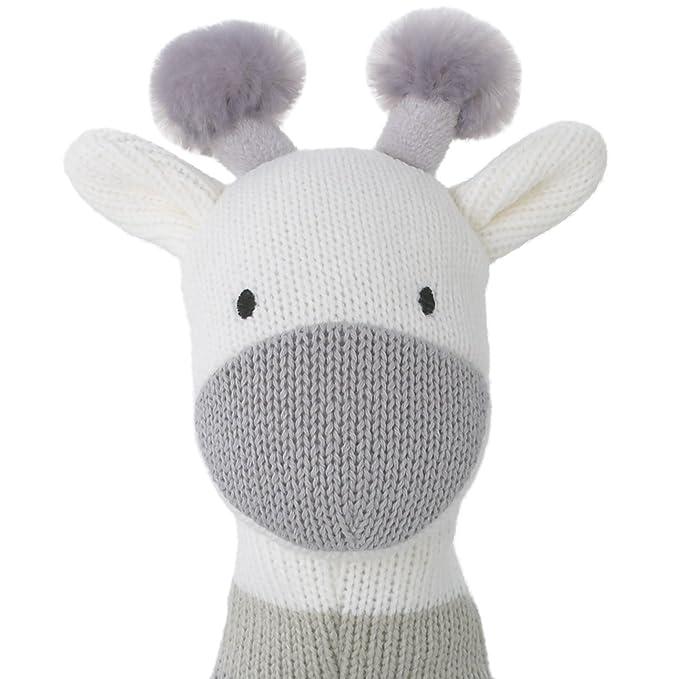 Gray//White Giraffe Dwell Studio Safari Skies Knit Plush