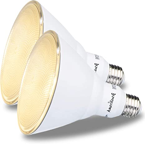 3000k Dimmable Lamp Bioluz LED PAR38 LED Bulb 15w Indoor // Outdoor UL Listed 120w Equiv
