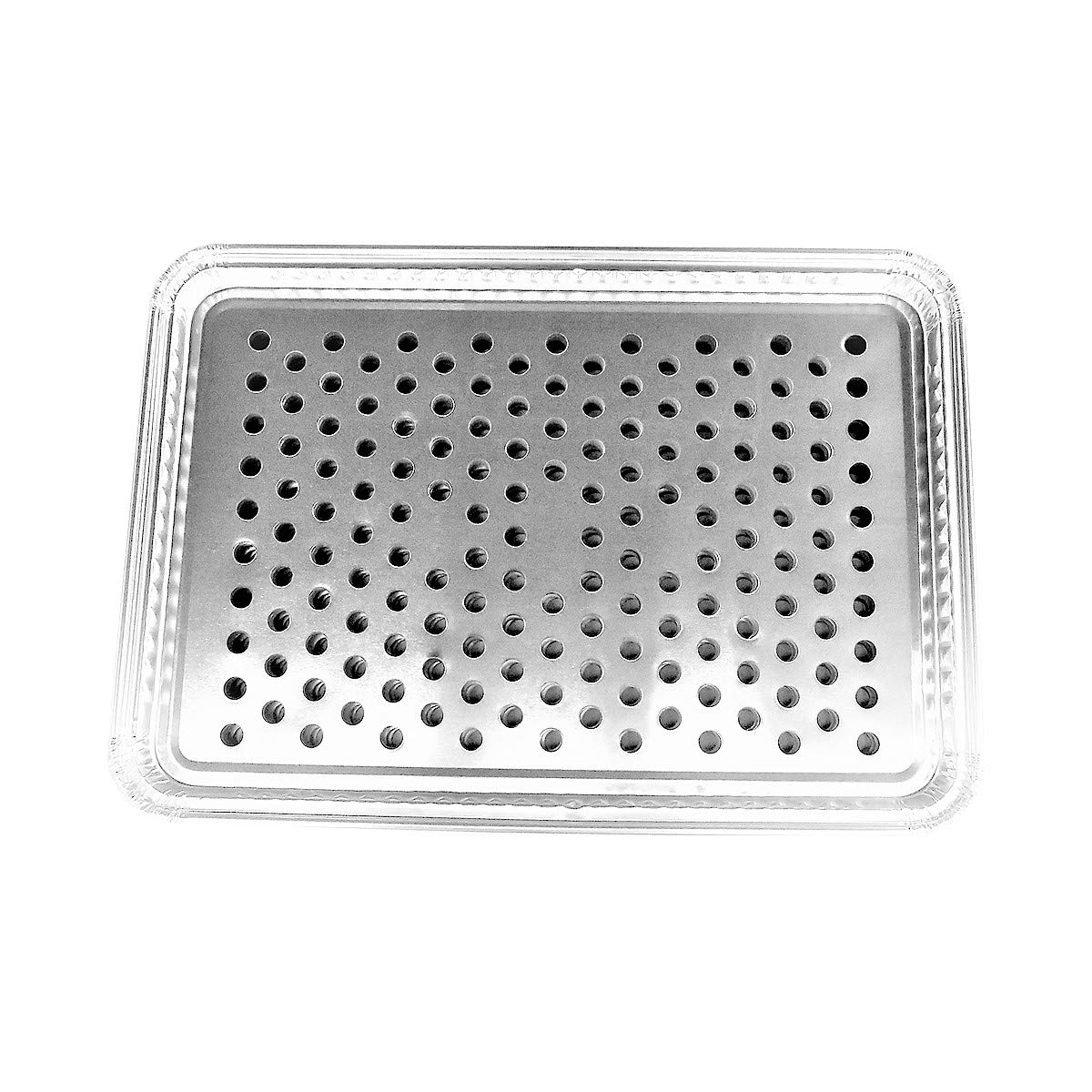 KitchenDance Disposable Aluminum Grill Toppers, Large Size 16'' x 11'' #7200 (100)