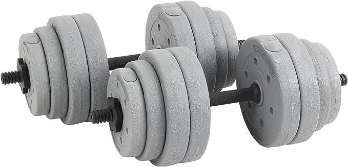 Gris Hardcastle Ensemble Barre de Poids Halt/ère R/églable 30kg