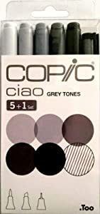 Copic Ciao Set includes Marker - Grey Tones (Pack of 5)/ Multiliner Pen