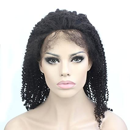Lordhair Human Hair Stock Afro Kinky Curly Lace Front Wig For African American Women