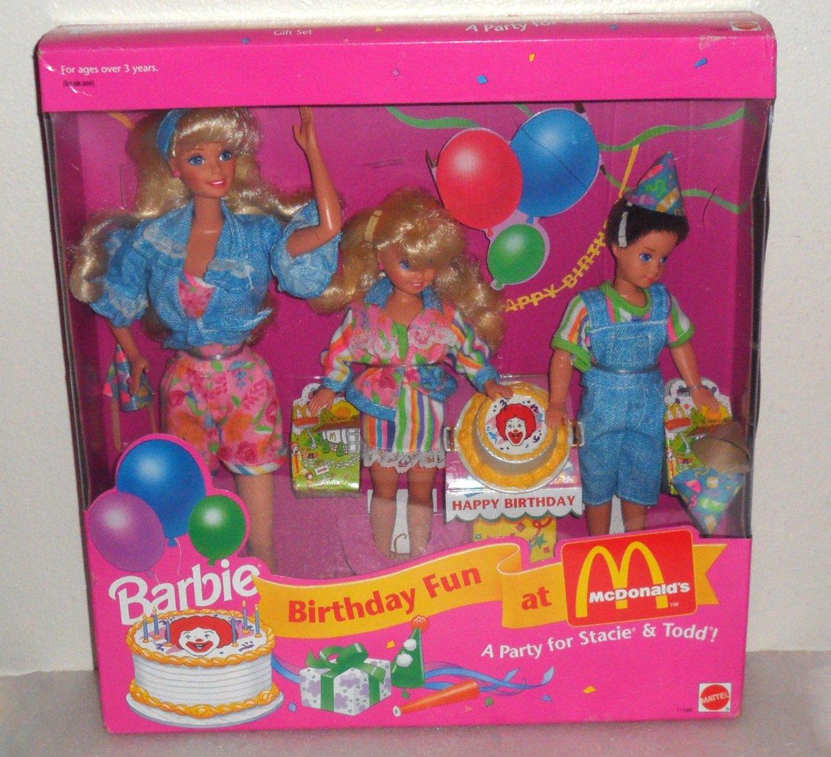 バービー バースデー Fun at at McDonald's party - A A party Stacie Todd (1993) 131002fnp [並行輸入品] B005JLFH80, キーリン:168c39b3 --- arvoreazul.com.br