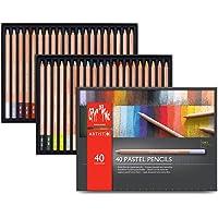 Caran d'Ache 107194 Pastel Pencils – 40 Renkli̇ Set