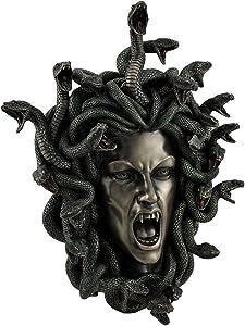 Medusa Head w/ Snake Hair Gorgon Lady Wall Plaque