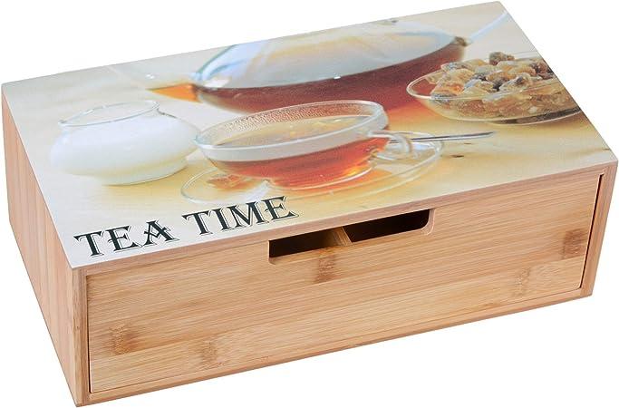 Gräwe - Caja para té con cajón: Amazon.es: Hogar
