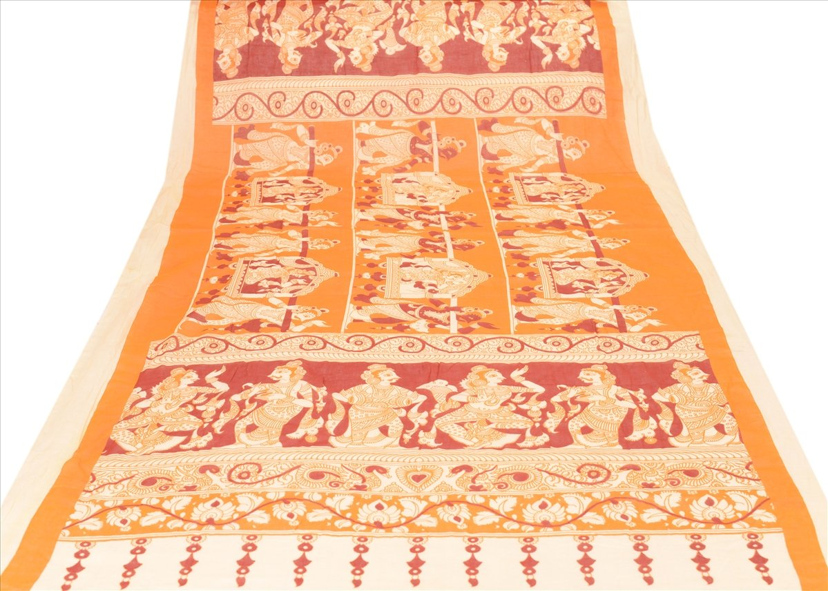 New Dupatta Long Scarf Pure Cotton Multi Color Hijab Printed Pattachitra Stole
