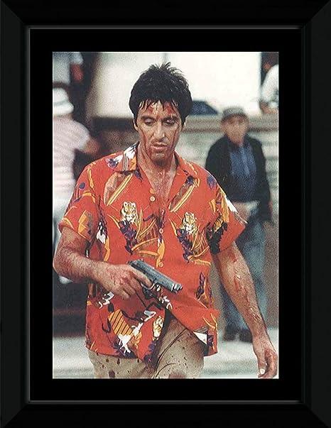 ffc0d975 Al Pacino - Scarface- Hawaiian Shirt Framed Mini Poster - 14.7x10.2cm:  Amazon.co.uk: Kitchen & Home