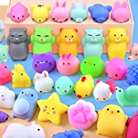 Mochi Squishy Toys Mini Squishy Kawaii Animal Squishies Squeeze Toy Cat Squishy Stress Relief Toys for Adults Goodie Bag…