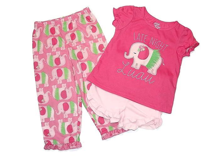 757b143a1 Amazon.com  Child Of Mine Girl s 3T Late Night Luau Elephant 3-Piece ...