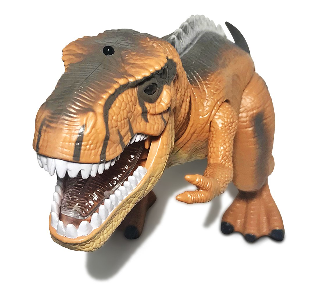 Warp Gadgets - Remote Control LED Brown T-Rex Dinosaur 19 Inches - Walking Dancing, Roaring, Light Up RC Toy by Warp Gadgets (Image #2)