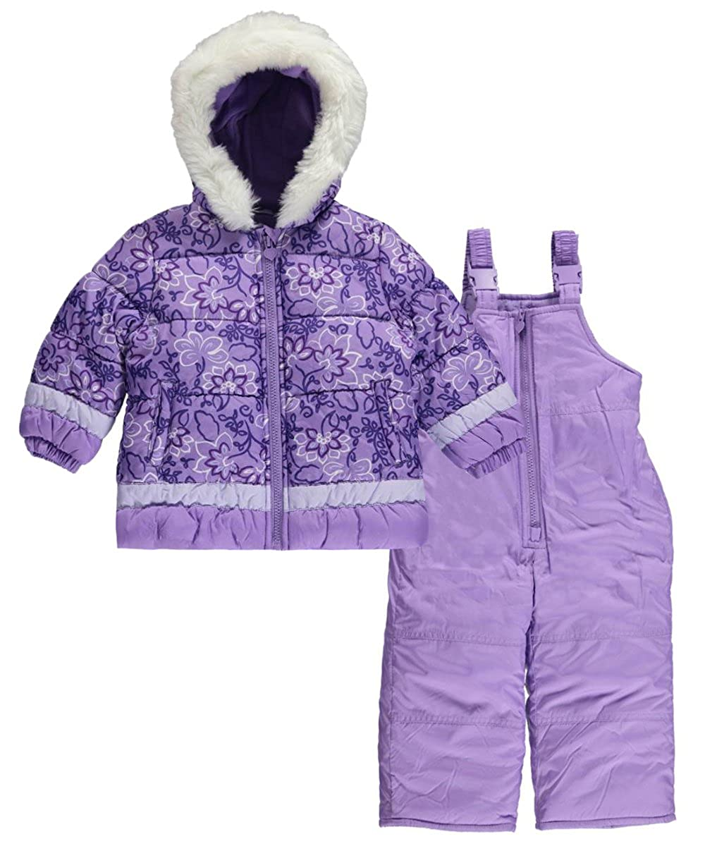 London Fog Baby Girls' Winter Garden 2-Piece Insulated Snowsuit