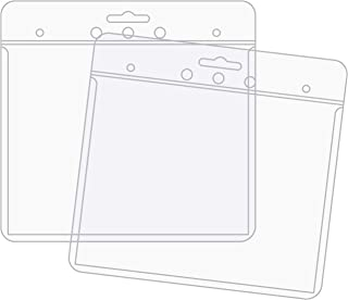 product image for EnvyPak Clear Horizontal Name Badge/ID Holders - Top Loading - 4 x 3 inch - Pack of 100 - Made in The USA