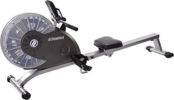 Stamina ATS Air Rower 1406 | Dynamic Air Resistance | Two Online Expert Guided Workout Videos Included with Purchase
